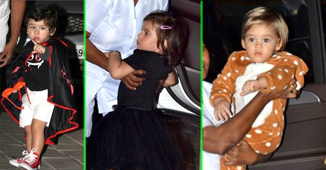 Star Kids Seen In Spooky Yet Cutest Avatars At Arpita Khan Sharma's Halloween Bash