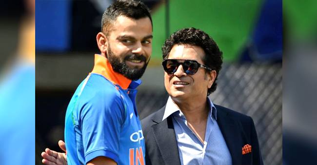 Sachin shares his thoughts on being compared with player Virat Kohli