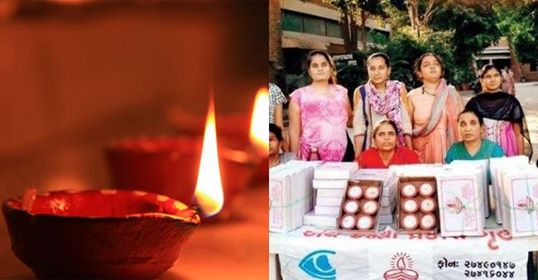 Gujarat's visually challenged women are lightening up the upcoming fest of Diwali by making Diyas