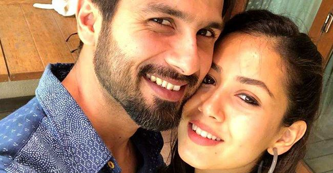 Mira shared a romantic picture with Shahid on Instagram wishing everyone on Diwali