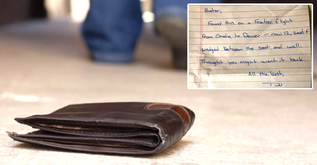 A Man Looses His Wallet But Gets It Back With A Sweet Note
