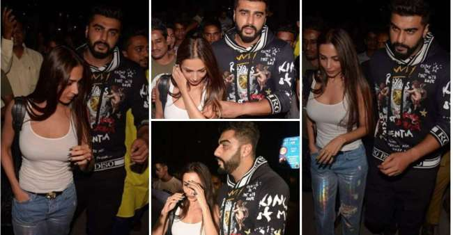 Presumed Lovebirds Malaika And Arjun Goes On A Dinner Date, Clicked By Paparazzi