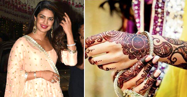 Know All The Super Exciting Details About Bride-To-Be Priyanka Chopra's Mehendi Ceremony
