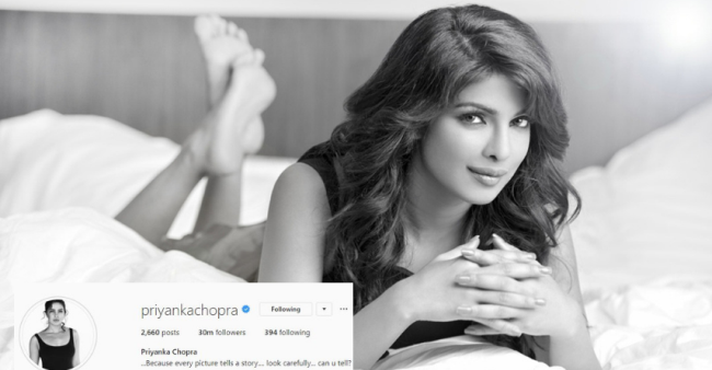 Priyanka Chopra Becomes The First Indian Celeb To Have An Insta Fam Of 30 Million Followers
