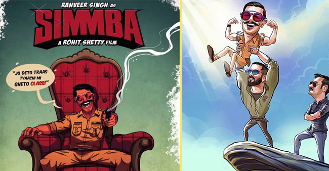 Funny Illustrations From Ranveer Singh's Simmba Will Made You Go Rofl