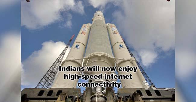 India's Heaviest Satellite Gsat-11 Launched Today, Will Improve Internet Connectivity In India