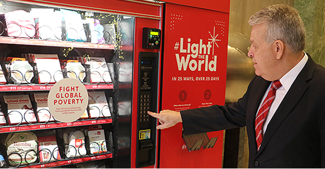 Make donations for poor people through these Charity vending machines