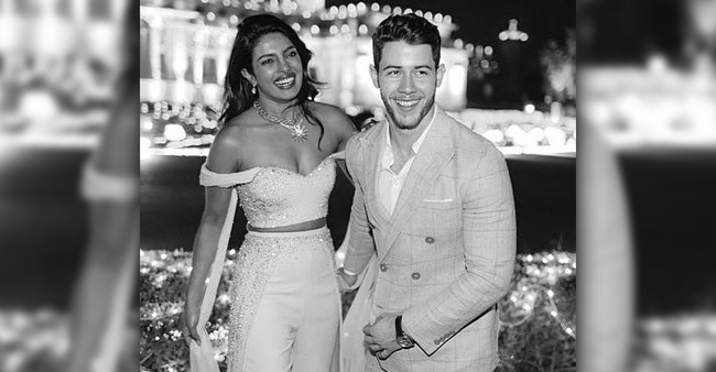Nickyanka's Elegant Black and White Pictures From Their Wedding Are Breaking The Internet