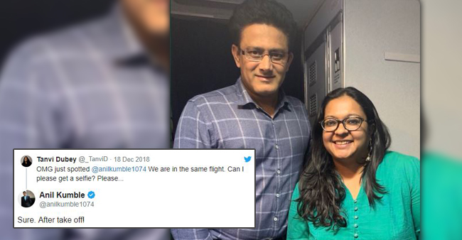 Anil Kumble Shows a Heart-warming Gesture With a Classy Reply To One of His fan In the Same Flight
