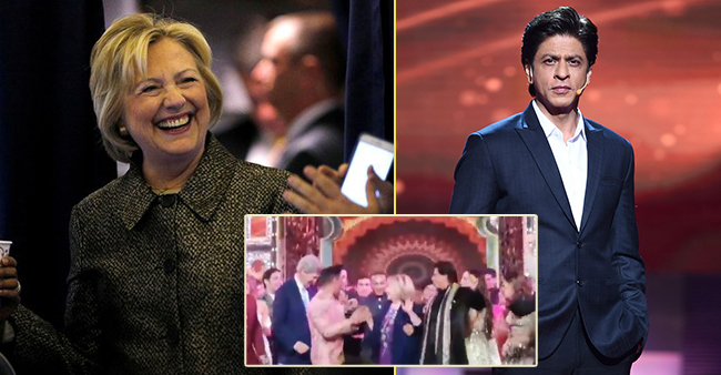 Hillary Clinton dances with SRK at Isha's Sangeet and we can't stop gushing over the video