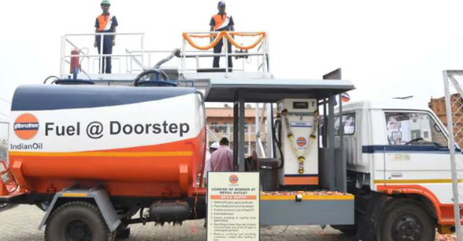 Indian Oil Corporation Commenced Doorstep Fuel Service, Delivers Fuel At Home In Chennai