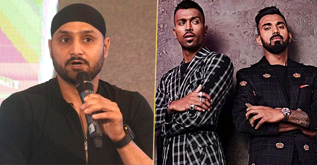 Harbhajan looses cool on Hardik and Rahul, says they tried to look cool but they were not