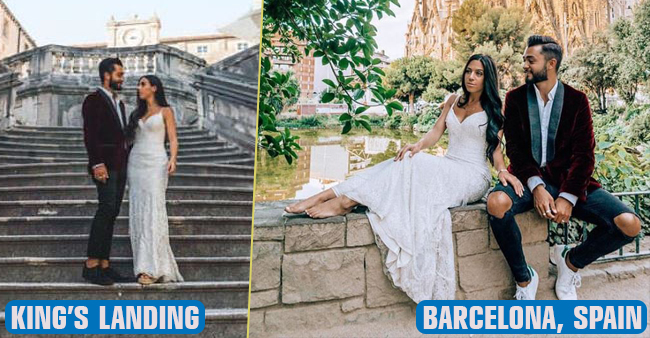 This couple traveled almost 33 countries wearing their wedding dress, pics are unmissable