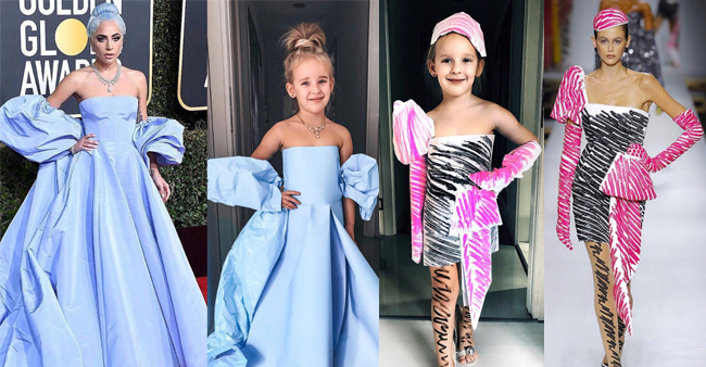 This Little Girl Is A New Internet Sensation Wearing Designer Dresses Created By Her Mom
