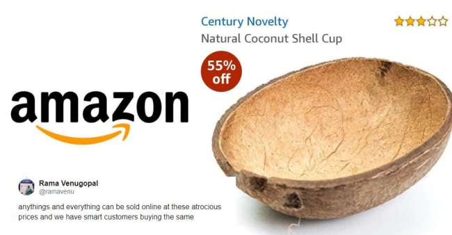Twitter Goes Berserk After Seeing Amazon Selling A Half Coconut Shell For Rs. 3000