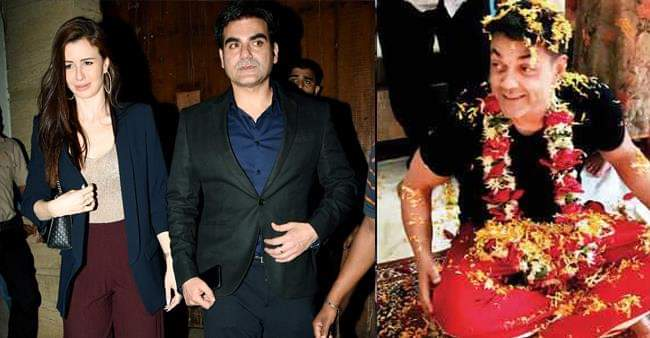 Arbaz Khan and Georgia Andriani steals the Show at Bobby Deol's Birthday Bash