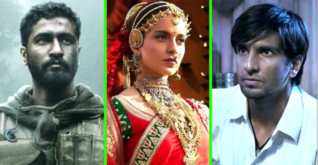 Uri: The Surgical Strike, Manikarnika: The Queen of Jhansi and Gully Boy Have Already Set the Bars High For 2019