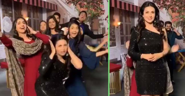 Divyanka Tripathi Dahiya had a gala time on the sets of The Voice; See PICS and VIDEOS