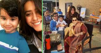 Ekta Kapoor shares the first picture of her cute nephew Laksshya Kapoor watching over adorable baby Ravie