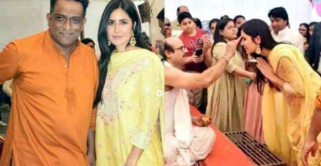 Katrina Kaif looked ravishing, as she gets snapped at Anurag Basu's Saraswati Puja