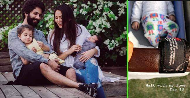Mira Rajput shares a cute picture from her Day 13 Walk with her little baby love, Zain Kapoor