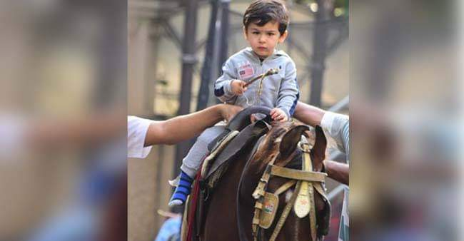 Taimur Ali Khan looks adorable while riding a horse in Bandra, Its the CUTEST thing to watch