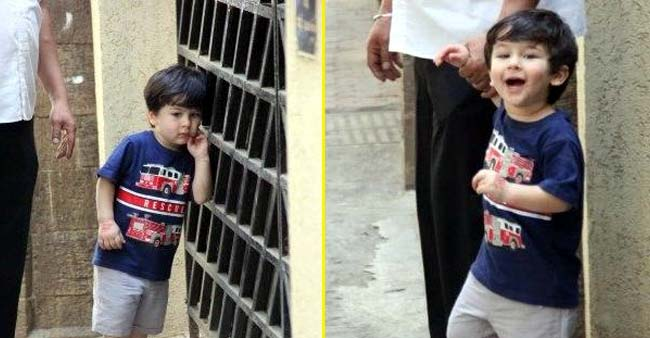 Taimur Ali Khan Stops and Poses for The Paparazzi Before He Leaves With Saif; Watch VIDEO