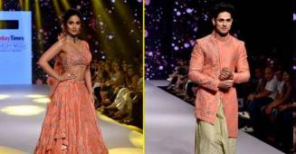 Besties Priyank Sharma and Hina Khan walk the ramp at a Fashion Show looking Gorgeous.