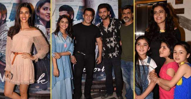 Salman Khan and other bollywood celebrities reached to watch 'Notebook'