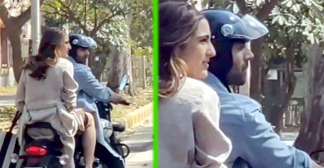 Sara Ali Khan Enjoys a Bike Ride With Kartik Aaryan, Gets Trolled For Not Wearing Helmet