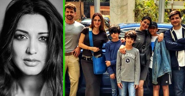 Sonali Bendre Poses Happily With Husband Goldie Behl and Hrithik Roshan's Family As She Celebrates her New Normal life