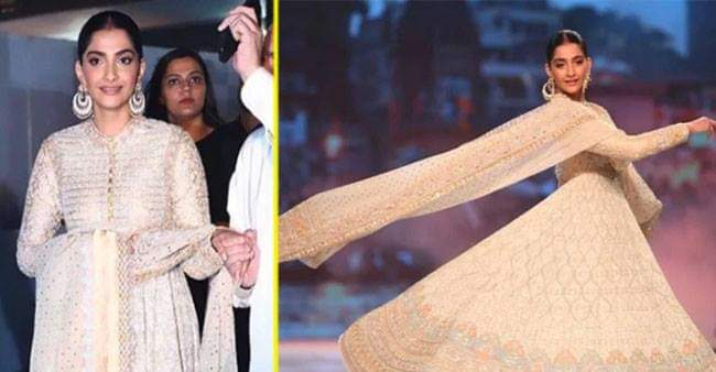 Sonam Kapoor walked the ramp with Sindoor for the first time and totally rocked the look.