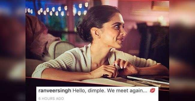 Ranveer Has The Cutest Message For Deepika's BTS Pic From Ad With Ranbir Kapoor