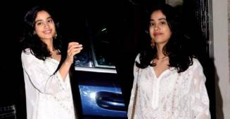 Janhvi Kapoor Looks Ethereal in an all-white kurta and palazzos ensemble; See PICS