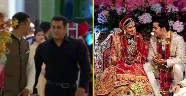 Video: Salman made his way to Akash-Shloka Wedding in Dabang Style, Greeted by Ranveer with open arms