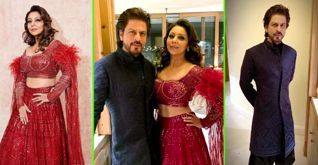 Shah Rukh Khan and wife Gauri Khan Looked Their Regal Best As They Attend A Wedding Together