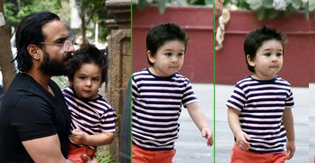 Taimur Ali Khan Falunts His New Summer Look As He Gets a Rocking Hairdo with Spikes