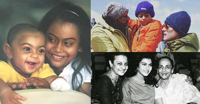 See The Adorable Pictures Of Kajol With Her Family