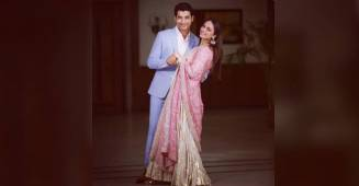 In Pictures: Sharad Malhotra and Ripci Bhatia Giving Proper Couple Goals in Roka Ceremony Photos