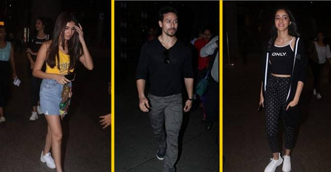 Watch: Tiger Shroff, Tara Sutaria and Ananya Panday Back in Mumbai for SOTY 2 Promotions