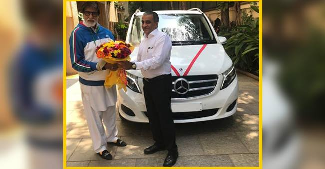 Amitabh Bachchan purchased a brand new Mercedes-Benz MPV