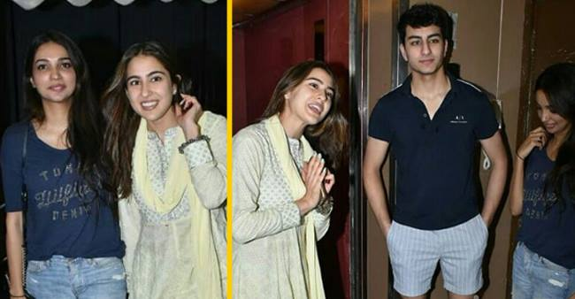 Sara Ali Khan spent her Sunday Evening with brother Ibrahim Ali Khan and mother Amrita Singh