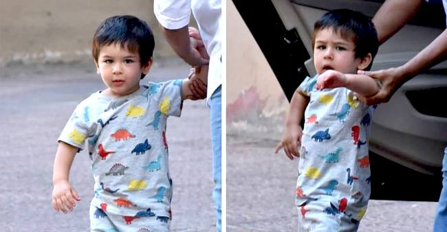 Taimur Ali Khan loves Dinosaurs! Here is a picture to prove it.