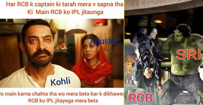 Fans Ridicule Virat Kohli and RCB on Twitter, Make Hilarious Memes After Latest Loss to SRH