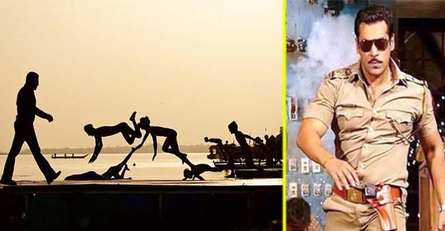 Salman Khan Just Shared a Silhouette Near Narmada From Sets of Dabang 3 Fans Are Going Gaga Over It