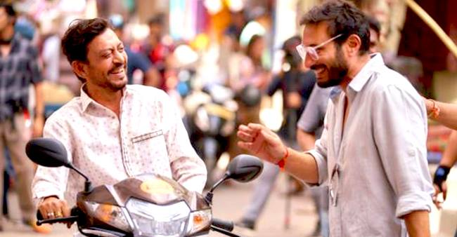 Irrfan shares a special moment with Angrezi Medium director; pic turns viral
