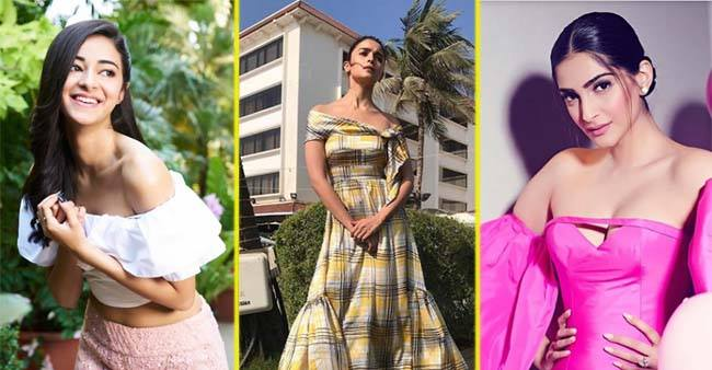 Master the Off Shoulder Trend This Summer With Cues From Ananya Panday, Alia Bhatt, and Sonam Kapoor