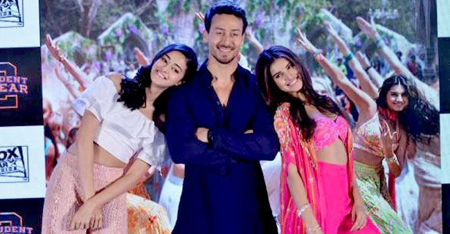 A Wheelchair Bound Tiger Shroff Along With Fellow SOTY 2 Cast Tara Sutaria and Ananya Panday Visit India Gate for Promotion of Their Film