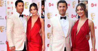 Pregnant Amy Jackson Flaunts her baby bump at the Bafta Awards, see pictures