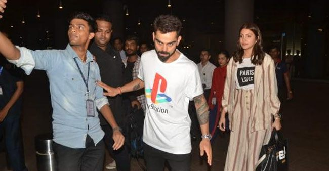 Lovebirds Virat Kohli and Anushka Sharma snapped at the airport, see pics